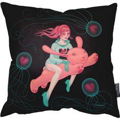 Tara McPherson - Space that Love gives Pillow 18Inch - 45cm