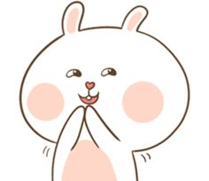 TuaGom : Puffy Rabbit by Tora Jung sticker Cute Bunny Cartoon, Cute Cartoon Images, Kawaii Bunny, Cute Cartoon Wallpapers, Korean Stickers, Love Stickers, Funny Stickers, Cute Bear Drawings, Cute Love Pictures