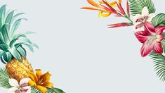 Tropical gray banner with design space vector | premium image by rawpixel.com Vector Can, Vector Free, Pineapple Illustration, Summer Banner, Outdoor Pouf, Banner Design, Tropical, Art Prints, Business Cards