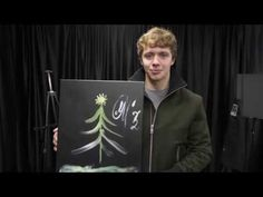 Watch Artemi Panarin create his holiday painting.
