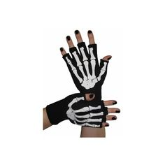 Skeleton Fingerless Gloves Black (16 AUD) ❤ liked on Polyvore featuring accessories, gloves, skeleton gloves, skeleton fingerless gloves and fingerless gloves