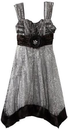Amazon.com: My Michelle Girls 7-16 Handkerchief Hem Dress: Clothing   - I Love this one!!! So sparkly!