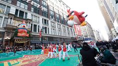 Angry birds at Macy's Thanksgiving Parade