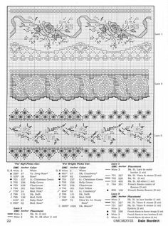 Cross Stitch / Embroidered Trims, Borders Instructions definitely read page 4 - 6