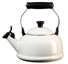 ROCK BOTTOM LOWEST PRICE GUARANTEE! LE CREUSET Classic 1.75-Qt. Enamel on Steel Whistling Teakettle White $89 PICK UP OR SHIPS FREE from agnellinos.com