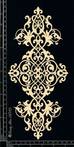 Discover thousands of images about Scrollwork Mais Stencil Patterns, Stencil Designs, Pattern Art, Pattern Design, Plotter Cutter, Stencils, Damask Stencil, Motif Floral, Scroll Saw Patterns