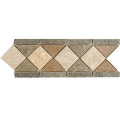 $11.94/SF  4-in L x 12-in W Slate Border with Bars Aspen Slate