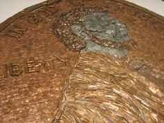 A giant penny made from pennies.  Ted Stanke is a GENIUS!!  Word!