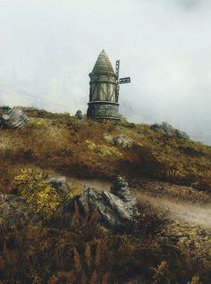 Windmill in Skyrim - from Beautiful Dovahkiin tumblr