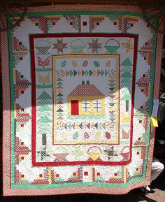 Lovely take on a medallion quilt