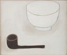 William Scott, Pipe of Peace, Oil on canvas, × 30 cm / 8 × in, Private collection Chantal Joffe, Italian Artist, Painting Art, Industrial Design, Still Life, 1980s, Oil On Canvas, Artworks, Peace