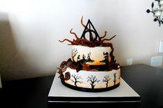 Mis creaciones culinarias: Harry Potter Cake: Historia de las fotos Three Brothers 1.5