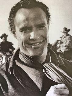 "Marlon Brando on the set of ""One Eyed Jacks"""