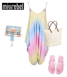 """""""SHOP - MissRebel"""" by ladymargaret ❤ liked on Polyvore featuring Havaianas, New Look and H&M"""