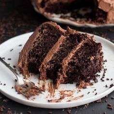 Simple Chocolate Birthday Cake with Whipped Chocolate Buttercream. Possibly the best chocolate cake...ever!