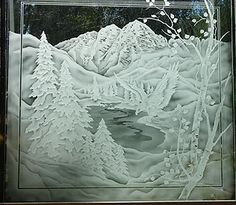 Window Etching Designs | Crystal Glass Studio - Architectural Etched Glass for windows, entry ...