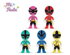 Power Rangers Samurai Inspired set Sky, Fire, Forest, Water, and Earth Clipart birthdays from Marron Studio Power Ranger Party, Power Ranger Birthday, Power Rangers Samurai, Power Rangers Ninja, Minion Party Theme, Party Themes, Party Ideas, Little Boy Costumes, Power Rangers Megaforce