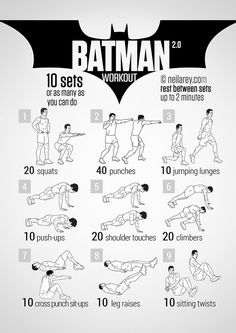 The Batman Workout < There are other choices such as Thor, Spiderman, and more!