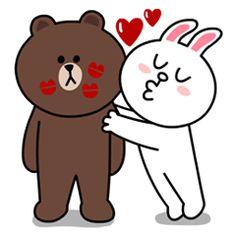 Son una pareja feliz y aunque a veces peleen, realmente se quieren. Expresa todo tu amor con estos stickers tan adorables.
