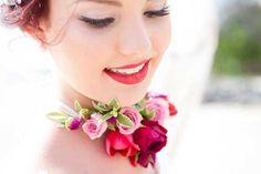 Colourful Beach Wedding Bridal Inspiration
