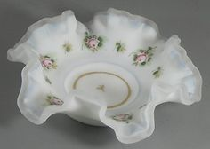 Hand Painted Satin Glass Bride's Basket Roses Small Vintage  http://www.ebay.com/itm/Hand-Painted-Satin-Glass-Brides-Basket-Roses-Small-Vintage-/370592805146?pt=LH_DefaultDomain_0=item56490d711a#ht_3361wt_754