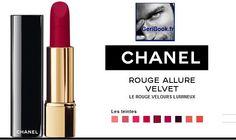 maquillage CHANEL collection de rouges velours ROUGE ALLURE VELVET