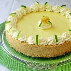 Frozen Key Lime Pie -Here's a perfect cool summer dessert. I've seen many recipes for this pie but this is my own twist with a vanilla cookie crust and a little whipped cream folded into the mix to lighten up the texture even more.