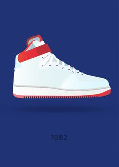 Displate Poster Air Force nike #1982 #air #force #sneaker #shoe #superstar #mrjackpots