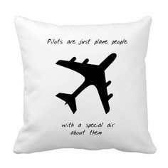 Aviation Style Pillow Airline Pilot 16x16 by by SouthShoreArt, $59.00