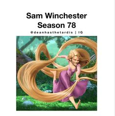 Sam Winchesters hair in season 78. This is so true.  thanked from @deanhasthetardis on Instagram
