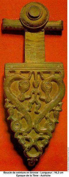 Boucle de ceinture en bronze Epoque de la Tene Autriche Art celte