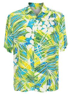62502c879 Jams World Kaimana Turquoise Men's Hawaiian Shirt Mens Hawaiian Shirts,  Vintage Hawaiian Shirts, Kimono