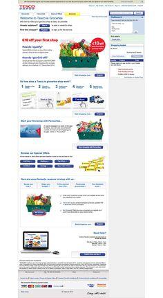 Top retailing websites - tesco