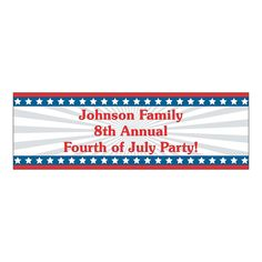 Small Personalized Stars & Stripes Banner - OrientalTrading.com. Can say anything like Happy Birthday Wonder Cara!