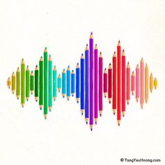 colours of sounds by Tang Yau Hoong Tang Yau Hoong, Colours That Go Together, Rainbow Writing, Post Mortem, Music Visualization, Narrative Writing, Over The Rainbow, Rainbow Colors, Illustration Art