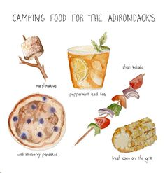 Camping food with link to Pie Iron camping food recipes :) More