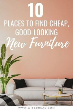 Want some cheap and affordable furniture? We've got the budget friendly stores so you don't need to go bargain hunting in thrift stores, craigslist and garage sales. Here are some great places to score you some stylish furniture at low cost. | #furniture #cheapfurniture #frugalhacks