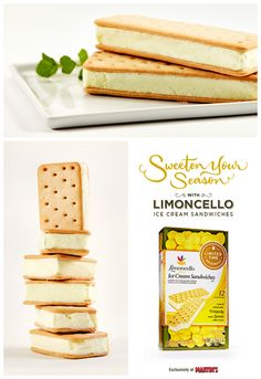 The bright, creamy and decadent flavor of our Ice Cream Sandwiches is inspired by 100 years of Italian tradition. So cool off on those hot days with some lemon ice cream between crispy vanilla flavored wafers. Yum! There are over 50+ Limoncello products available now through July 2015. Discover them all now.