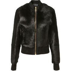 Balmain Black Fur Jacket (€4.025) ❤ liked on Polyvore featuring outerwear, jackets, collar jacket, fur jacket, fur collar jacket, zipper jacket and balmain jacket