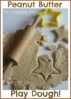 The Imagination Tree: Edible Peanut Butter Play Dough Recipe perfect for little ones that like to try and eat the shop brought stuff