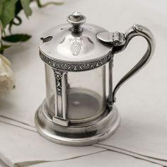 Early 1900s Hotel Miami, Florida Jar/Mustard Jar #Hotel #style #decor #condiment #silver #server #tableware #jar #bowl