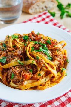 Tagliatelle Bolognese {Closet Cooking}.. made using short ribs! yummm!!! he has such great recipes!