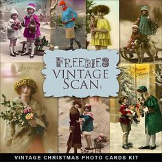 Freebies Vintage Christmas Photos