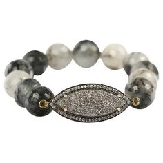 Check out this item at One Kings Lane! Rutilated Quartz & Antique Bracelet