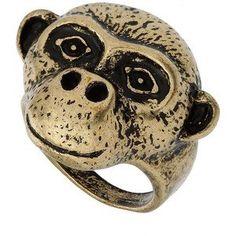 małpi pierścień z Topshop/ Topshop monkey ring