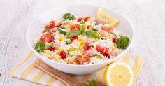 Recette de Salade de riz fine ligne au thon et au citron. Facile et rapide à réaliser, goûteuse et diététique. Ingrédients, préparation et recettes associées.
