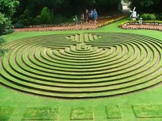 Labyrinth Maze: The Cockington Green Labyrinth, Australia. Green Lawn, Green Garden, Labyrinth Walk, Amazing Maze, Labrynth, Unique Gardens, Landscape Architecture, Cool Places To Visit, Topiary