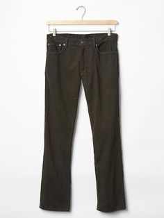 GAP Men Cords Black Fill Straight Fit Pants Graphite Grey Gray 34*32 534321 $59 #GAP #Corduroys #GAP Men Cords