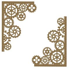 Creative Embellishments designs and manufactures quality scrapbook chipboard embellishments, rubber stamps, and flair. Our products are perfect for scrap book enthusiasts, card makers and altered art. Steampunk Crafts, Steampunk Gears, Scrapbooking Steampunk, Gear Template, Templates, Paper Origami Flowers, Foto Gif, Art Journal Techniques, Digital Signage