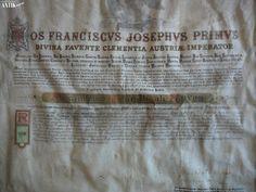 Antik Bazár Sk | PERGAMENOVA LISTINA FRANTISKA JOZEFA I. - Predaj Corona